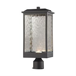 Elk Lighting Newcastle Outdoor LED Post Light in Matte Black
