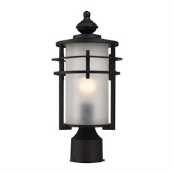 Elk Lighting Meadowview Outdoor Post Light in Matte Black