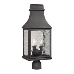 Elk Lighting Forged Jefferson 3 Light Outdoor Post Light in Charcoal