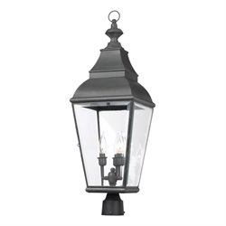 Elk Lighting Bristol 3 Light Outdoor Post Light in Charcoal