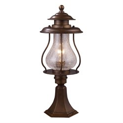 Elk Lighting Wikshire Outdoor Post Light in Coffee Bronze