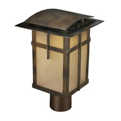 Elk Lighting San Fernando Outdoor LED Post Light in Hazelnut Bronze