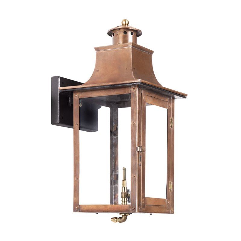 Elk Lighting Maryville Outdoor Gas Wall Lantern in Aged Copper