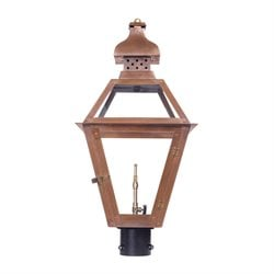 Elk Lighting Bayou Outdoor Gas Post Light in Aged Copper