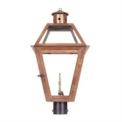 Grande Isle Outdoor Gas Post Light in Aged Copper