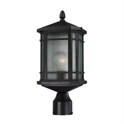 Elk Lighting Lowell Outdoor Post Light in Hazelnut Bronze