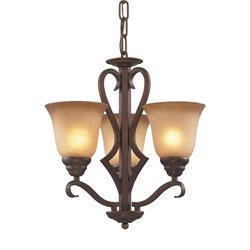 Elk Lighting Lawrenceville 3 Light LED Chandelier in Mocha