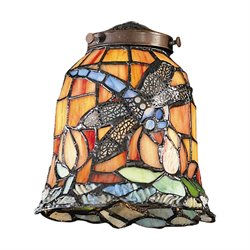 Elk Lighting Mix-N-Match Tiffany Dragonfly Glass Lamp Shade