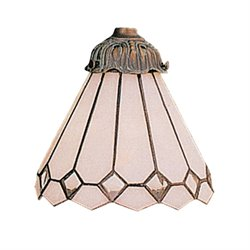 Elk Lighting Mix-N-Match White Tiffany Glass Lamp Shade