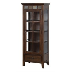 Sunny Designs Santa Fe Curio Cabinet in Dark Chocolate