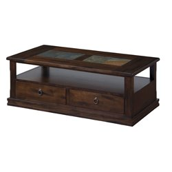 Sunny Designs Santa Fe Storage Coffee Table in Dark Chocolate