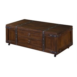 Sunny Designs Santa Fe Lift Top Coffee Table in Dark Chocolate