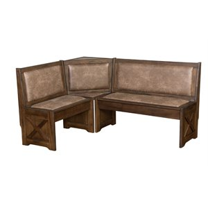 Sunny Designs Savannah Breakfast Nook Set in Antique Charcoal