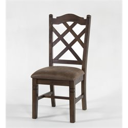 Sunny Designs Savannah Cross Back Dining Chair in Antique Charcoal