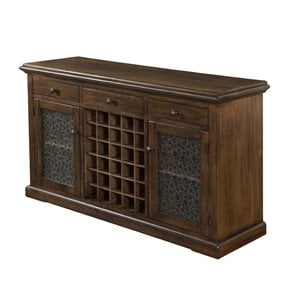 Sunny Designs Savannah Buffet with Wine Rack in Antique Charcoal