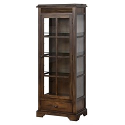 Sunny Designs Savannah Curio Cabinet in Antique Charcoal