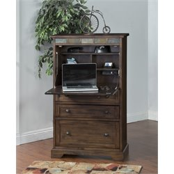 Sunny Designs Savannah Computer Armoire in Antique Charcoal