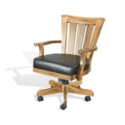 Sunny Designs Sedona Game Chair with Cushion in Rustic Oak