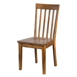 Sunny Designs Sedona Slat Back Dining Chair in Rustic Oak