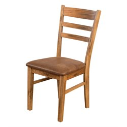 Sunny Designs Sedona Ladder Back Dining Chair in Rustic Oak