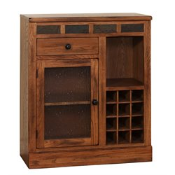 Sunny Designs Sedona Mini Home Bar in Rustic Oak