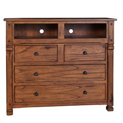 Sunny Designs Sedona 4 Drawer Bedroom Chest in Rustic Oak