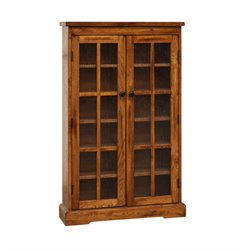 Sunny Designs Sedona CD DVD Media Storage Cabinet in Rustic Oak