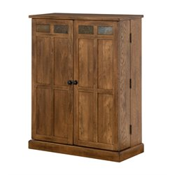 Sunny Designs Sedona CD Media Storage Cabinet in Rustic Oak