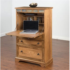 Sunny Designs Sedona Computer Armoire in Rustic Oak