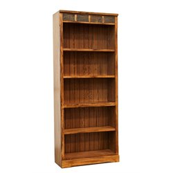 Sunny Designs Sedona 5 Shelf Bookcase in Rustic Oak