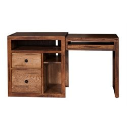 Sunny Designs Sedona Extendable Computer Desk in Rustic Oak