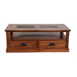 Sunny Designs Sedona Storage Coffee Table in Rustic Oak