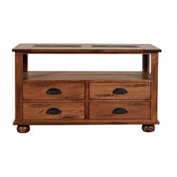 Sunny Designs Sedona Console Table in Rustic Oak