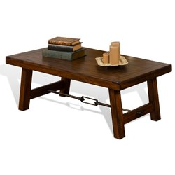 Sunny Designs Tuscany Coffee Table in Vintage Mocha