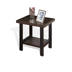 Sunny Designs Weathered Pine End Table in Weathered Pine