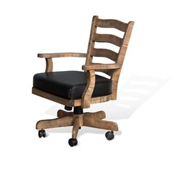 Sunny Designs Puebla Game Chair with Cushion in Driftwood