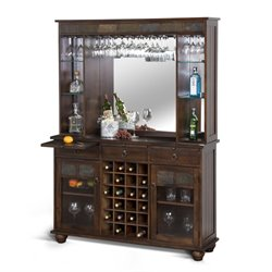 Sunny Designs Santa Fe Home Bar in Dark Chocolate