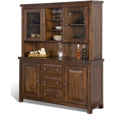 Sunny Designs Tuscany China Cabinet in Vintage Mocha