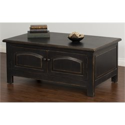 Sunny Designs Storage Coffee Table in Black