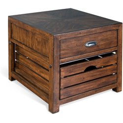Sunny Designs Canyon Creek End Table in Kings Wood