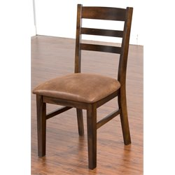 Sunny Designs Santa Fe Ladder Back Dining Chair in Dark Chocolate
