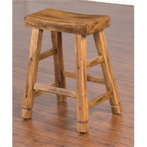 Sedona Saddle Seat Bar Stool in Rustic Oak