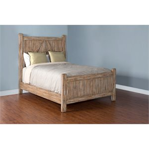 Sunny Designs Durango Panel Bed in Weathered Brown