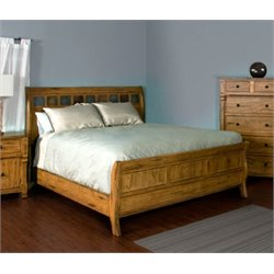 Sedona Panel Bed in Rustic Oak