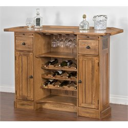 Sunny Designs Sedona Home Bar in Rustic Oak