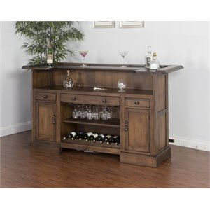 Sunny Designs Savannah Home Bar in Antique Charcoal
