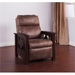 Sunny Designs Santa Fe Recliner in Dark Chocolate