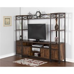 Sunny Designs Crosswind Entertainment Center in Weathered Mocha