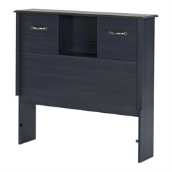 South Shore Ulysses Twin Bookcase Headboard in Blueberry