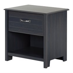 South Shore Ulysses Nightstand in Blueberry